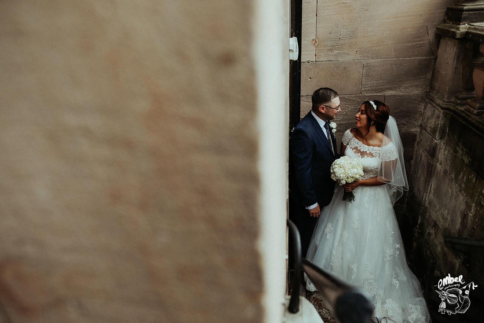 rookery hall wedding couple
