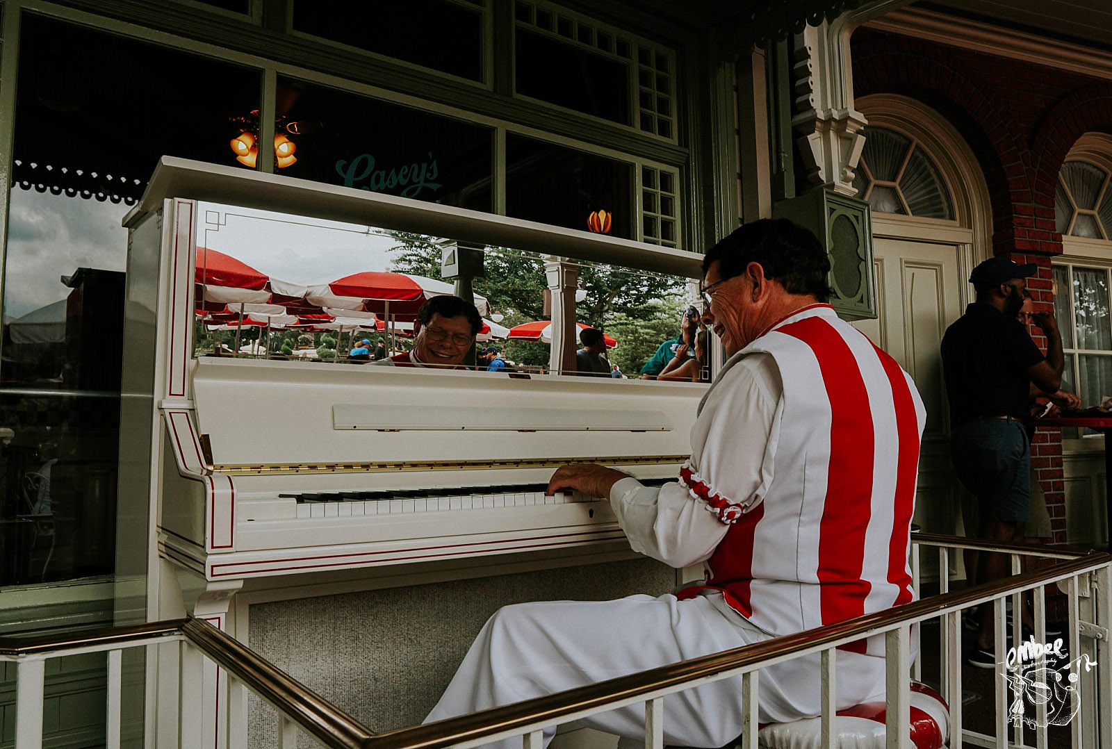 piano playing man in disney