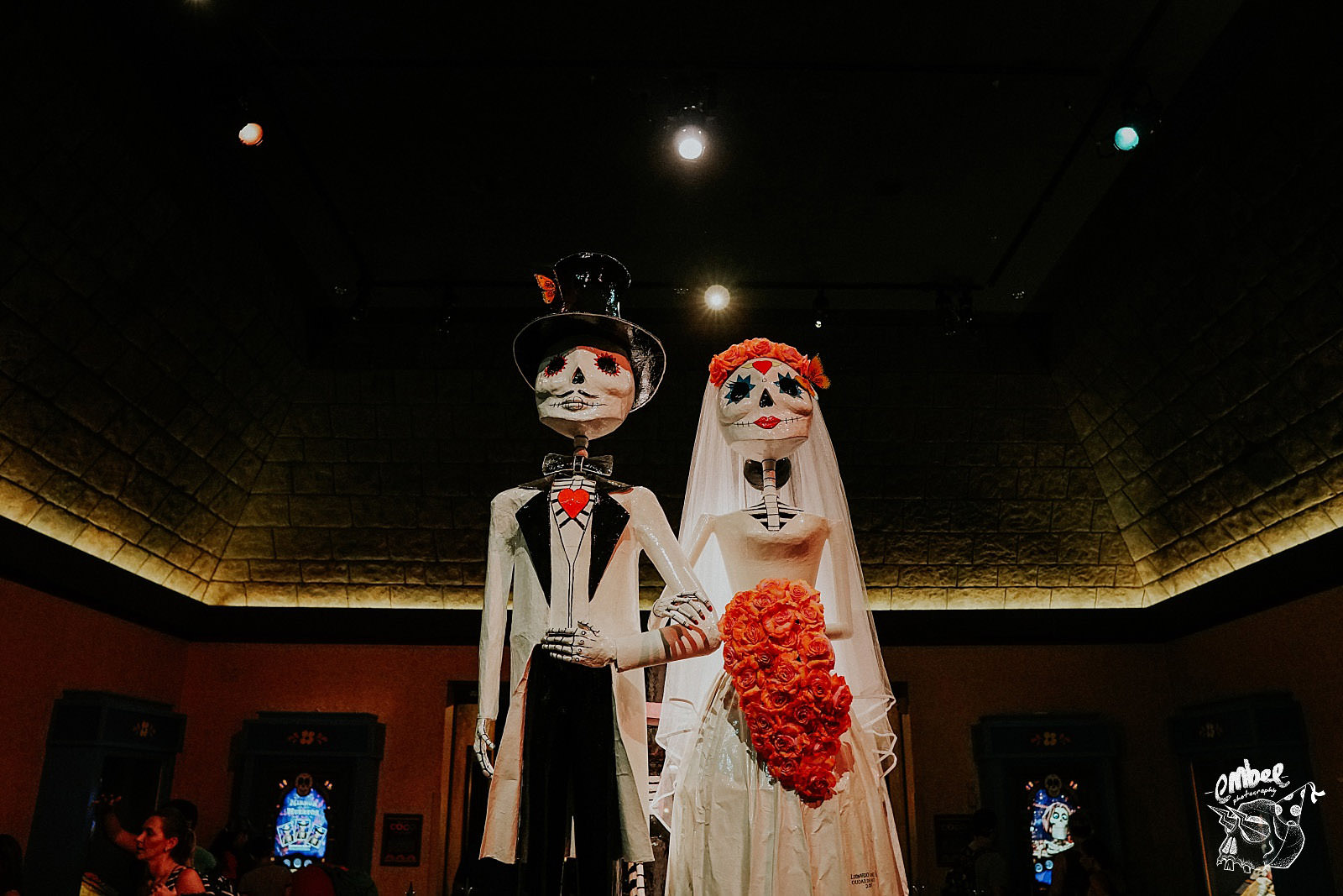 day of the dead bride and groom in epcot