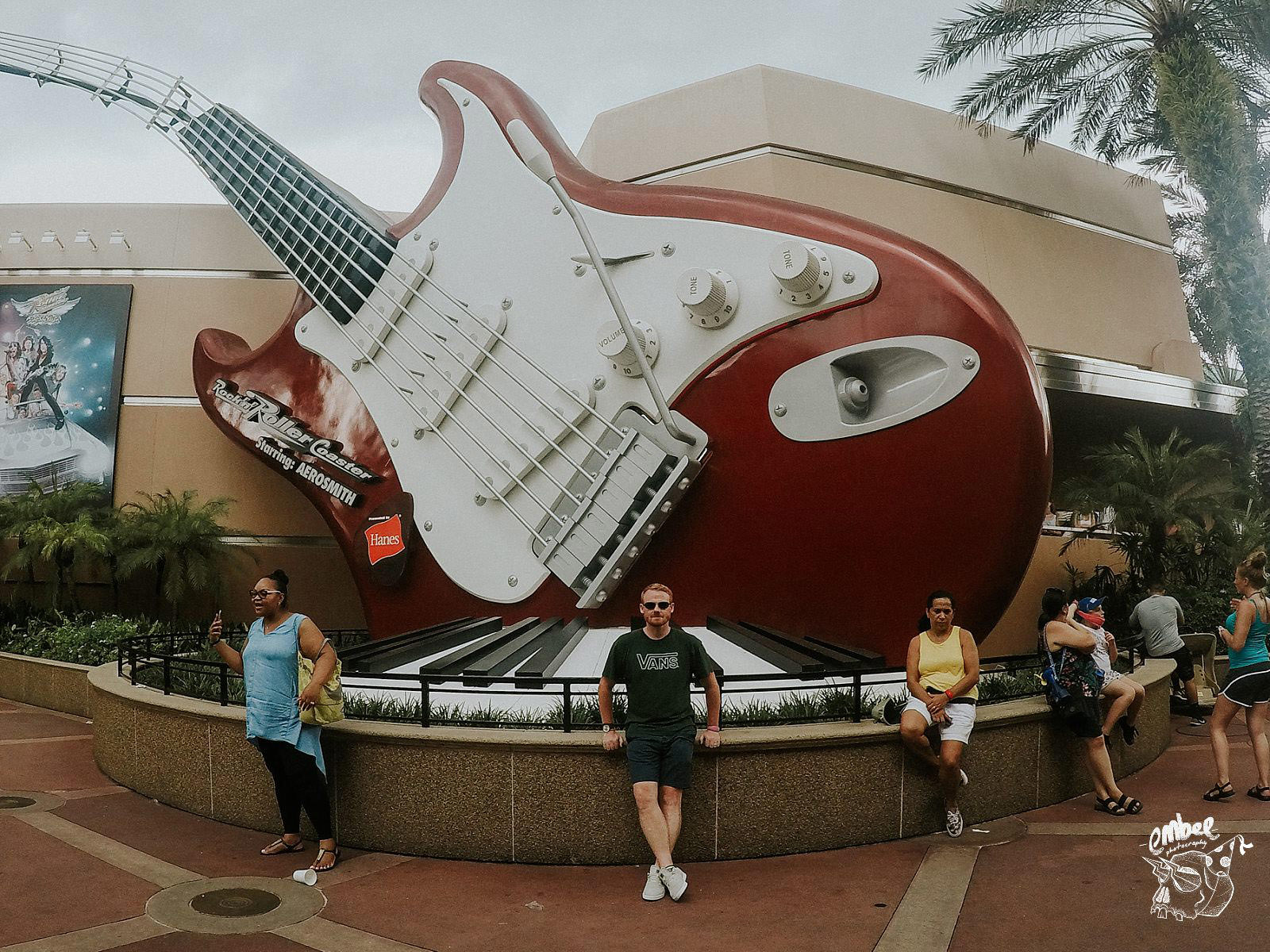 giant guitar for rock and roller coaster in hollywood studios