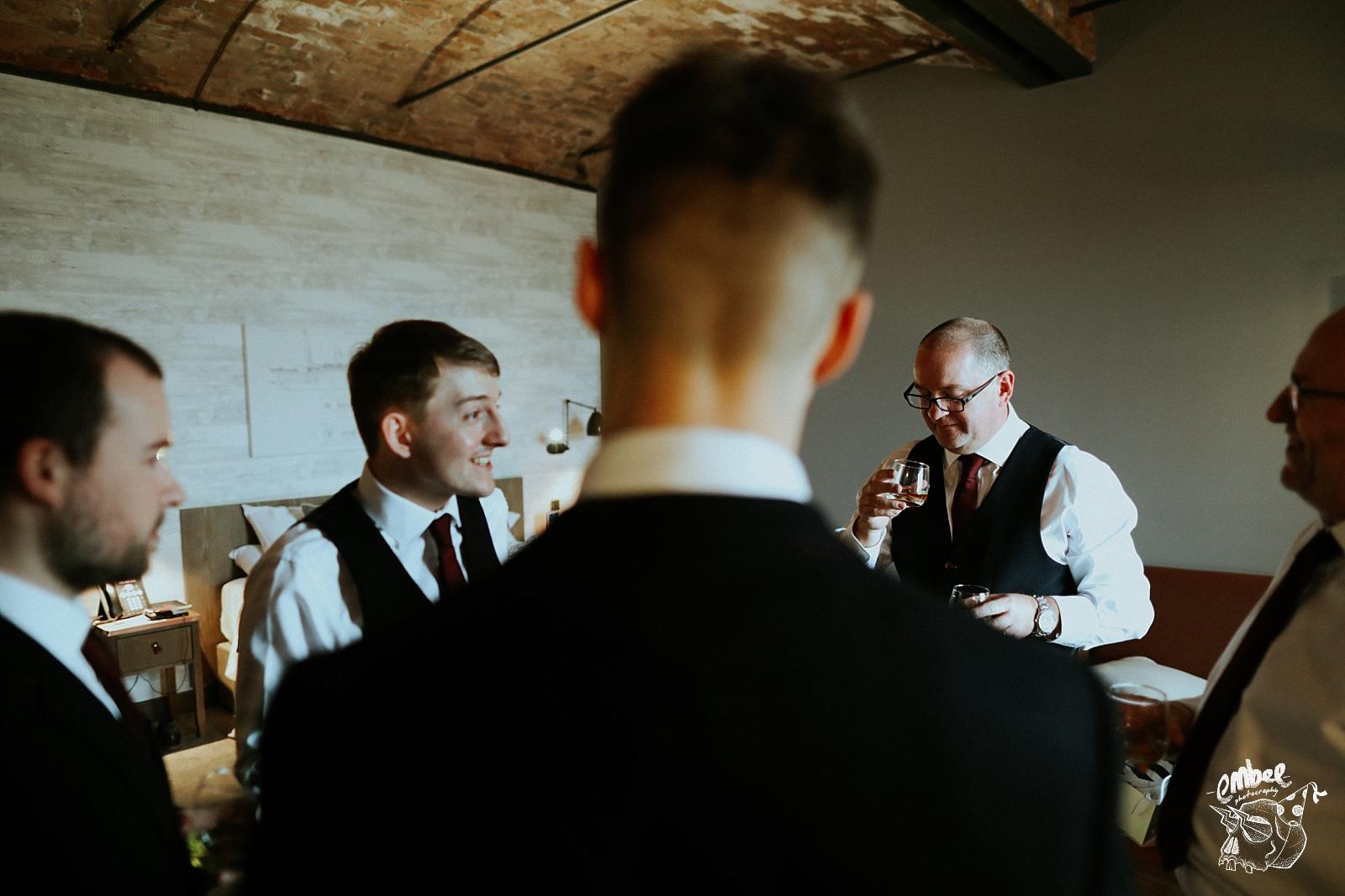 groom with ushers