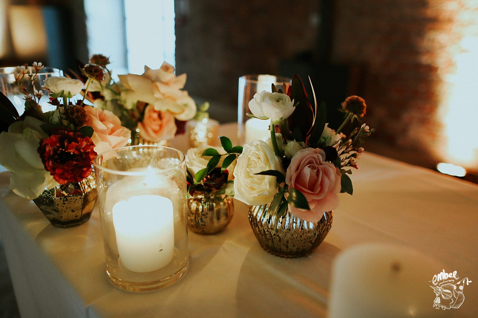 flowers on the ceremony table