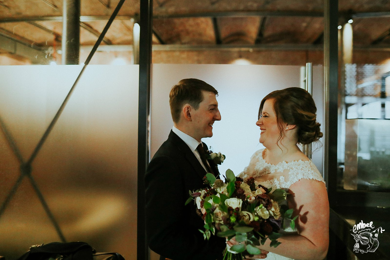 bride and groom portraits at wedding