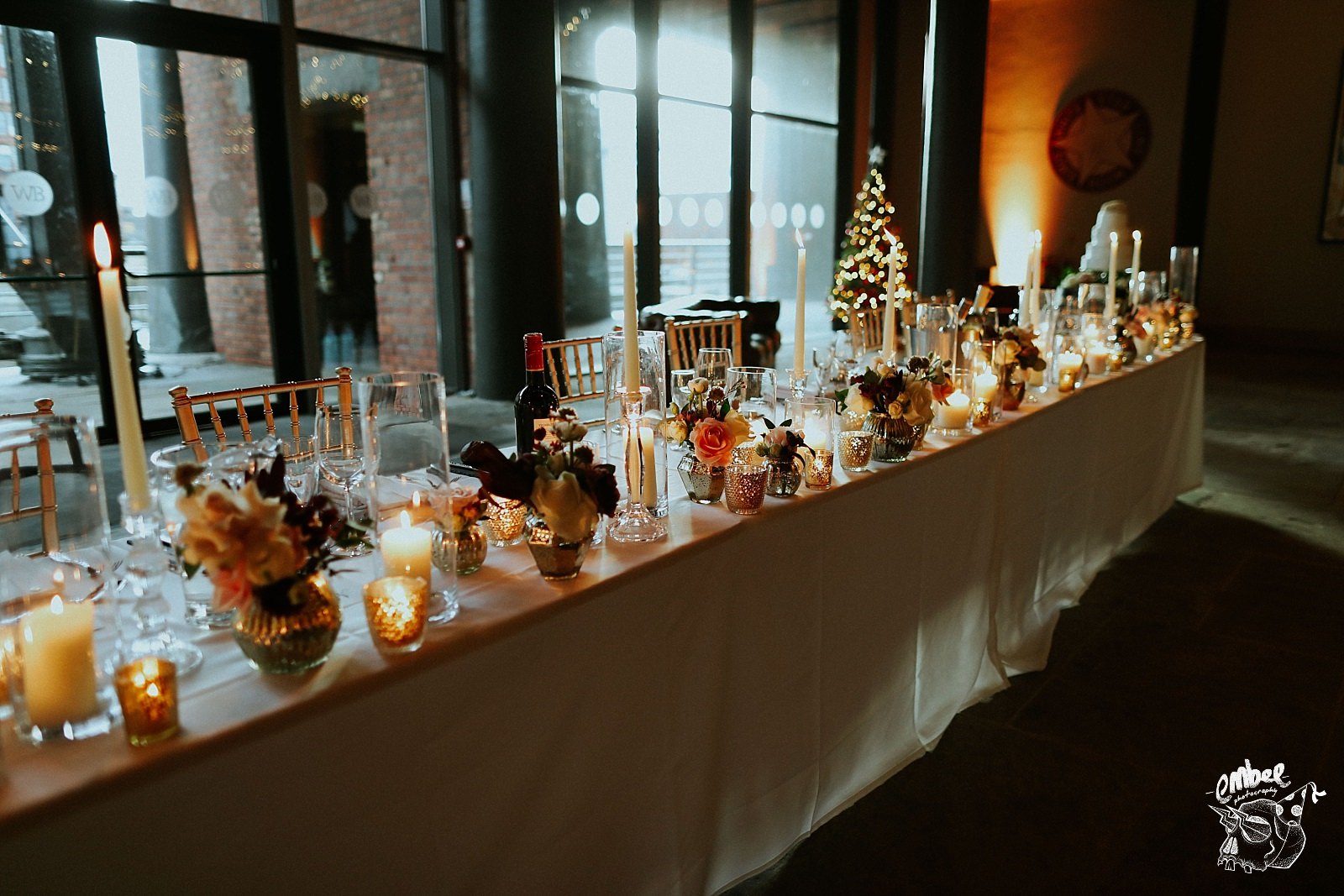 flowers and candles on the room top table