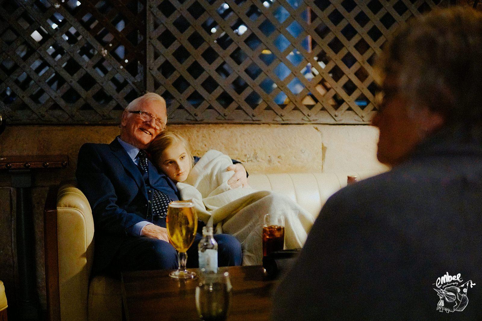 granddaughter and grandad hug