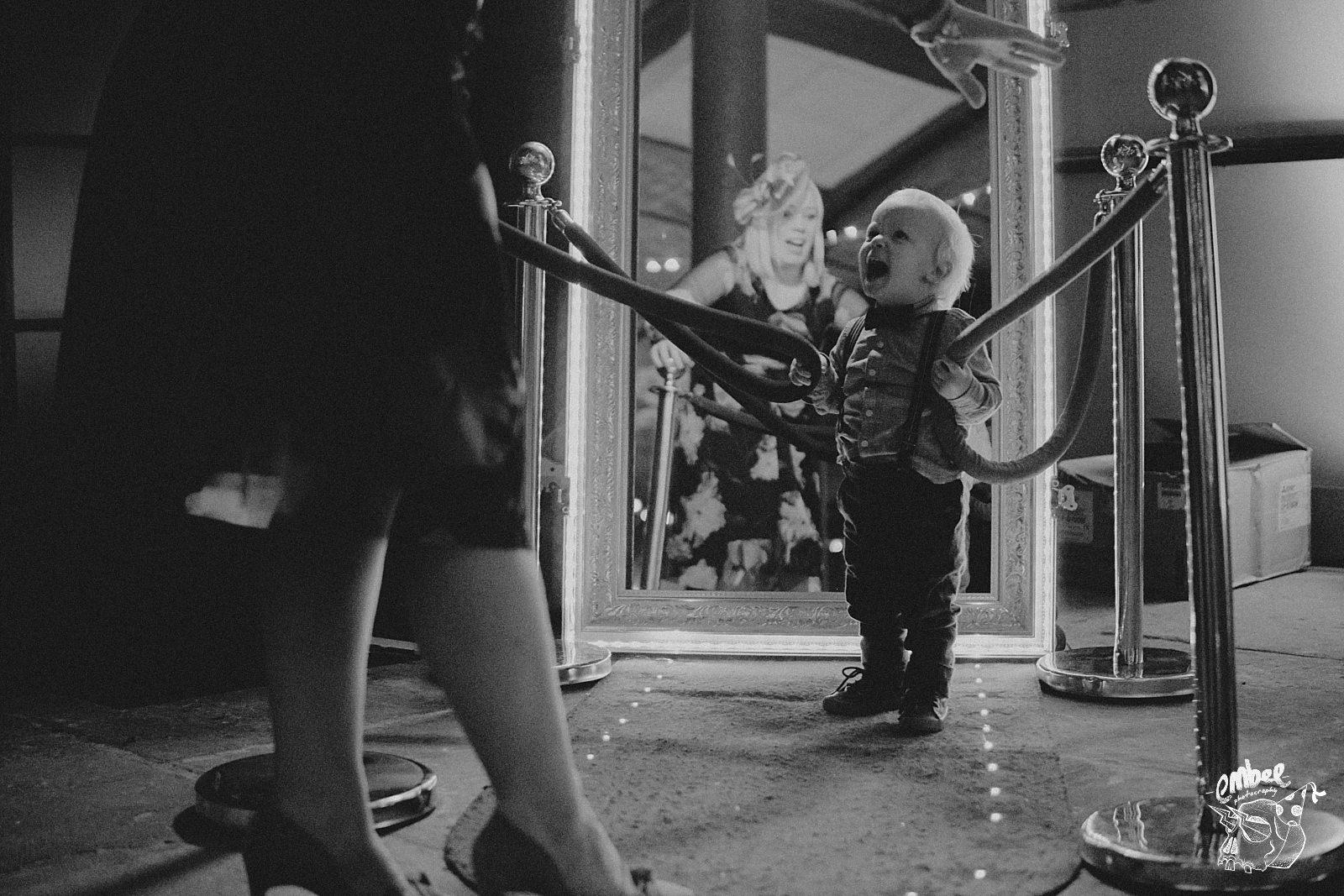 kids screaming at the magic mirror