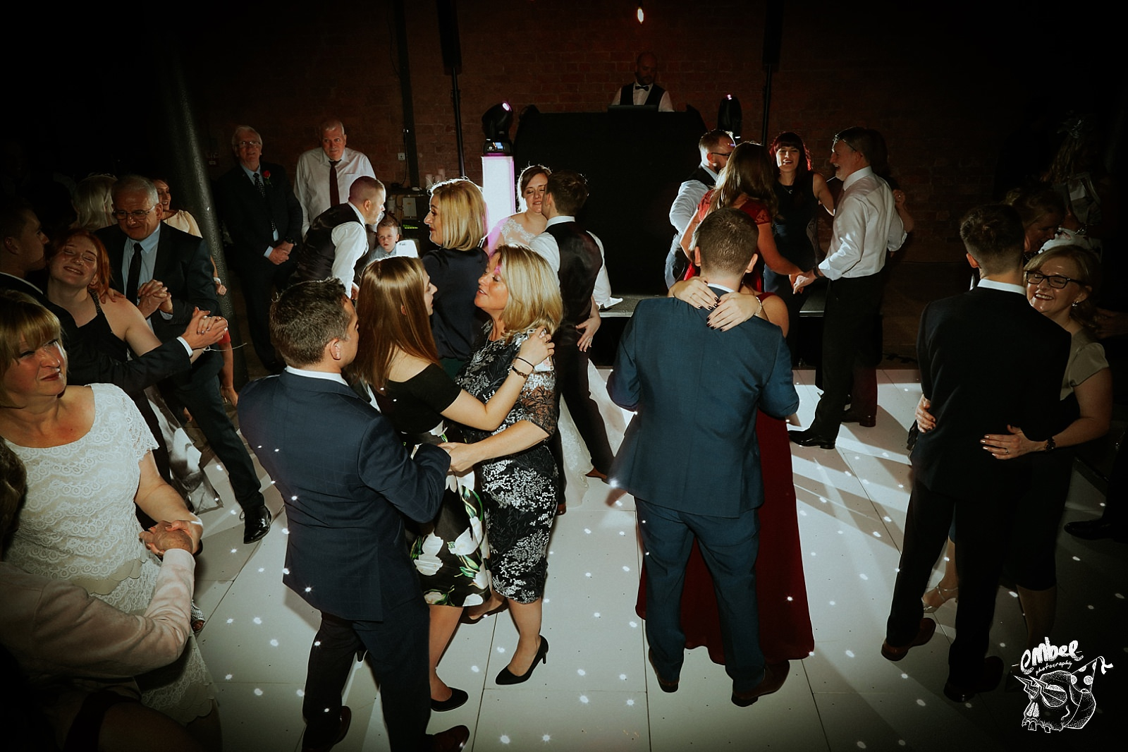 busy dance floor at a wedding