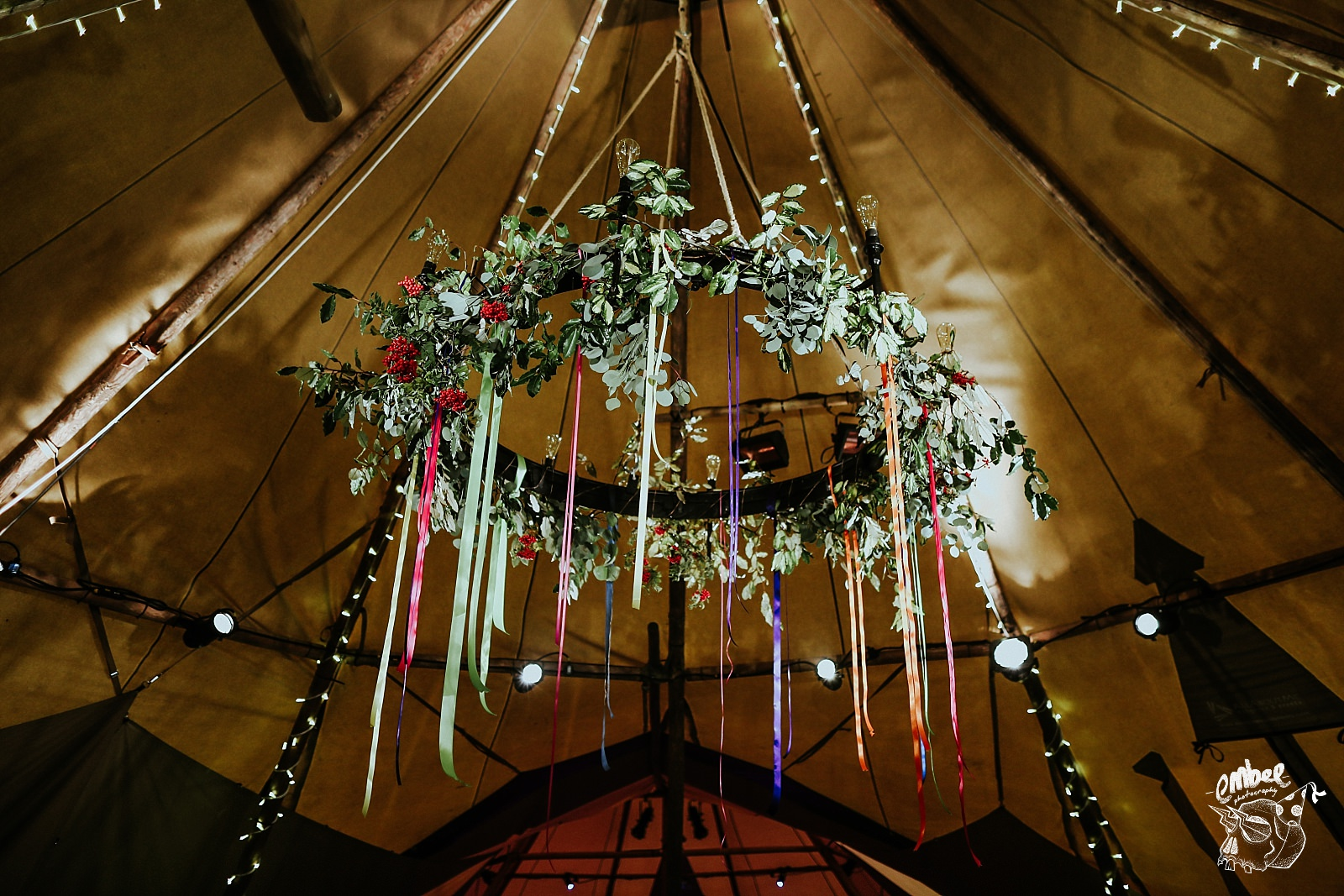 amazing flowers in tipi