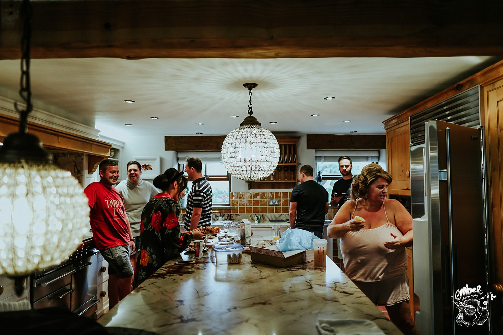 breakfast table in grooms house