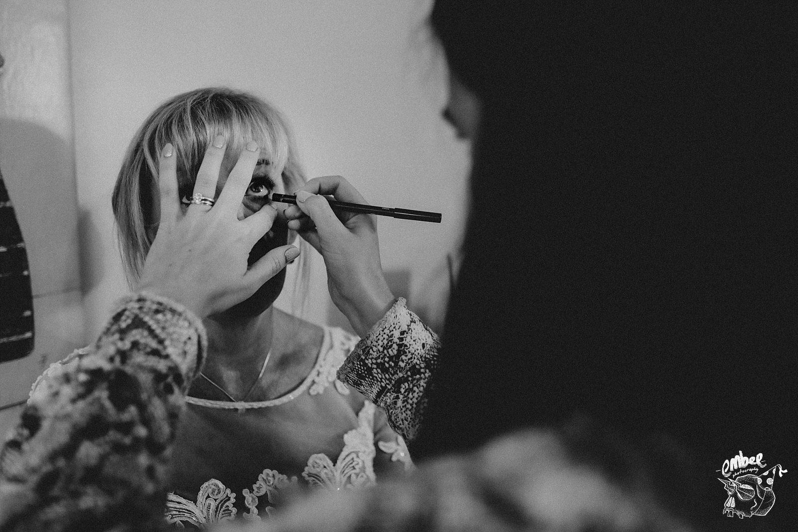 make up artist doing mums make up