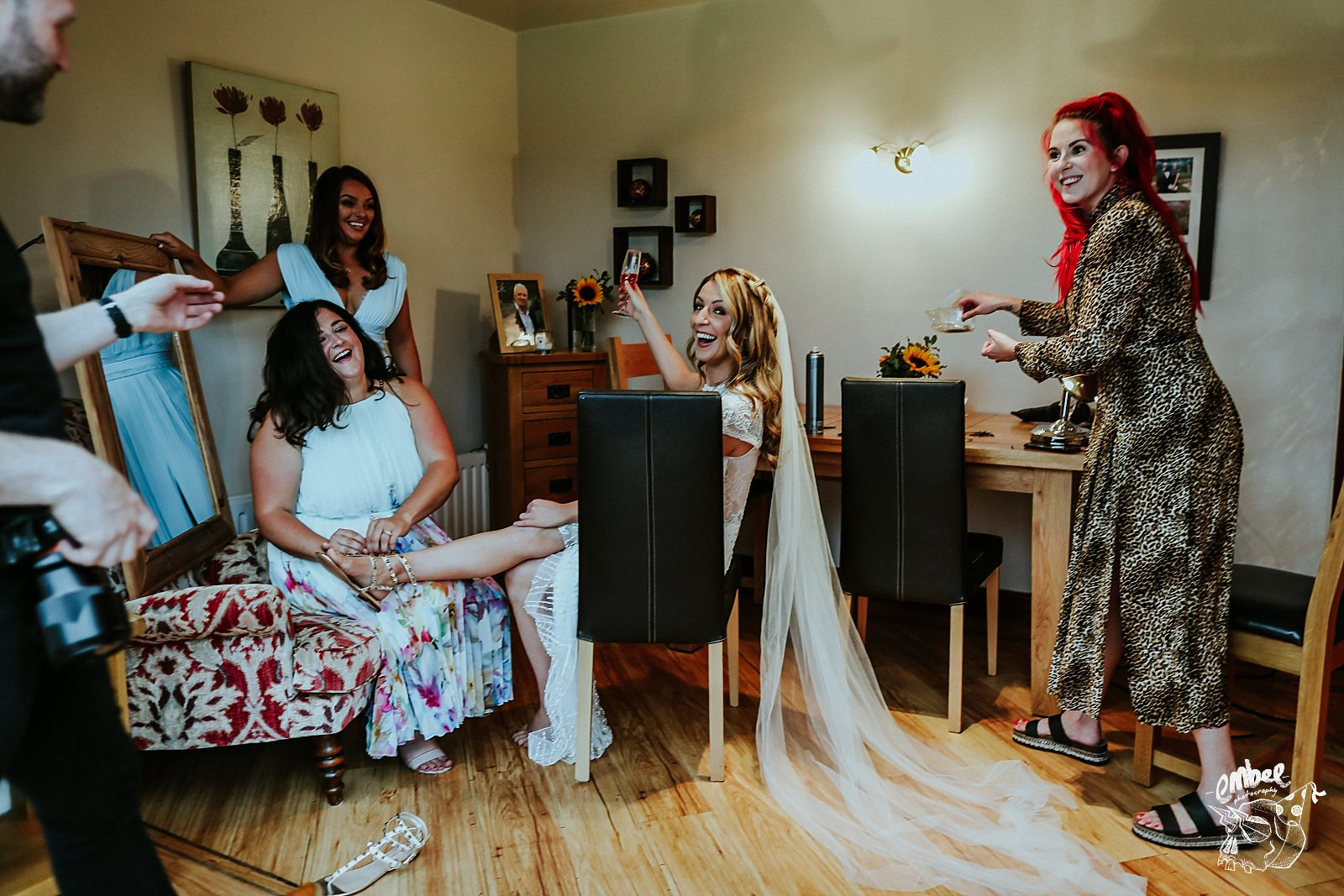 everyone helping bride to get ready