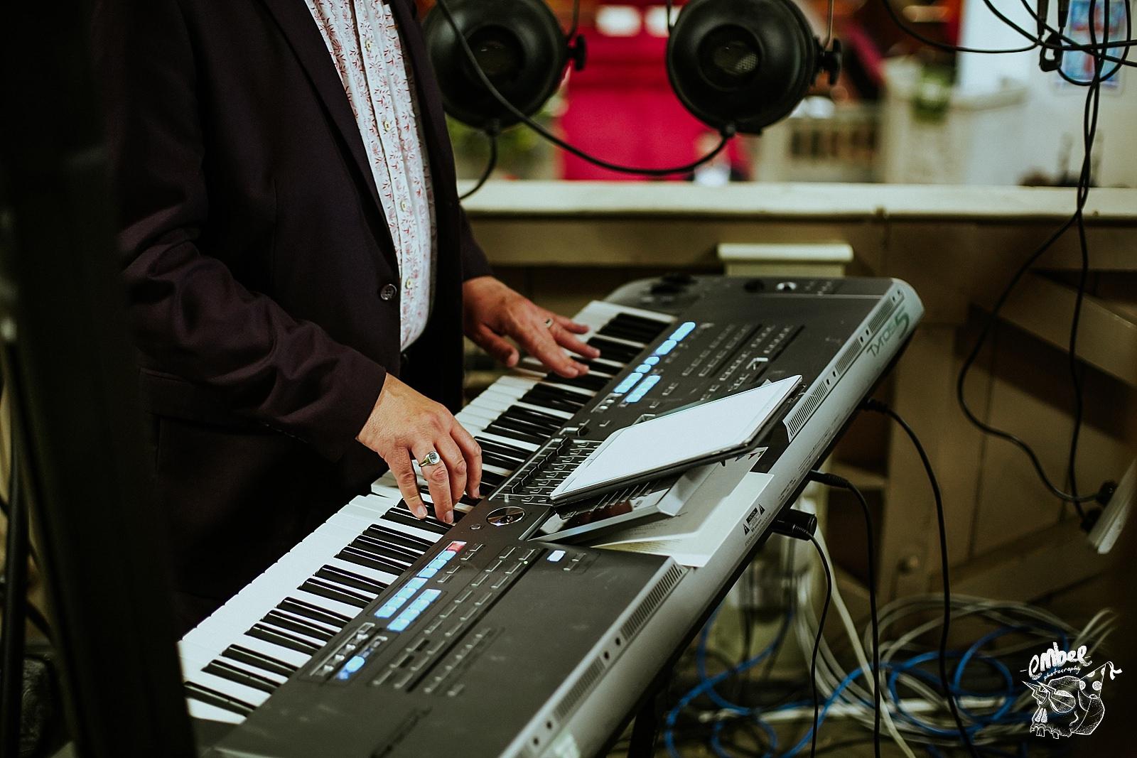 keyboard playing in church