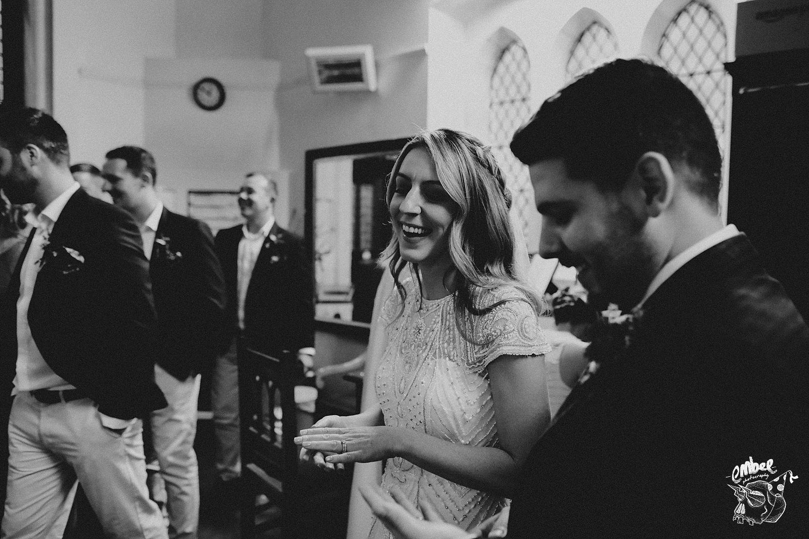 bride laughs