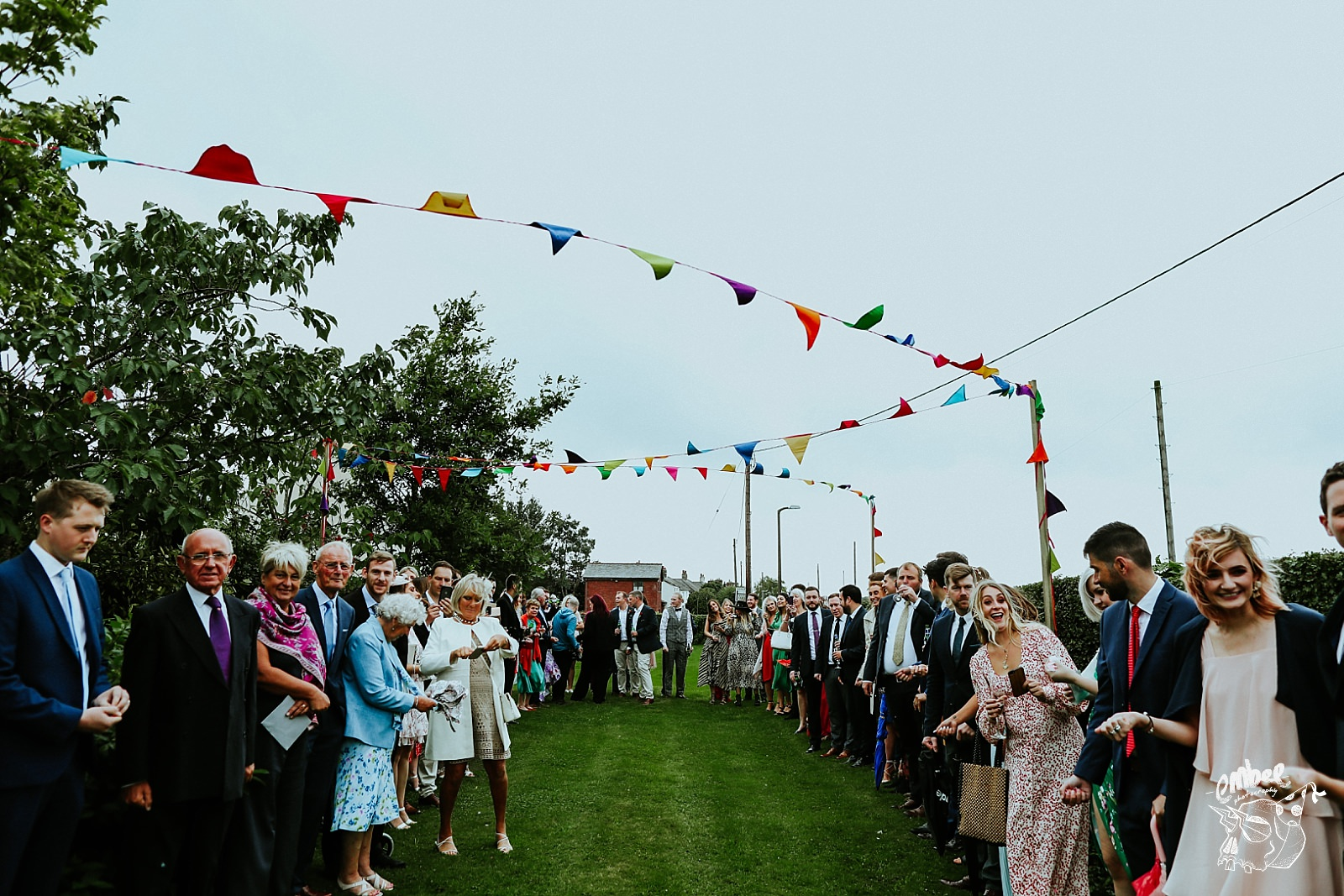 lots of wedding guests