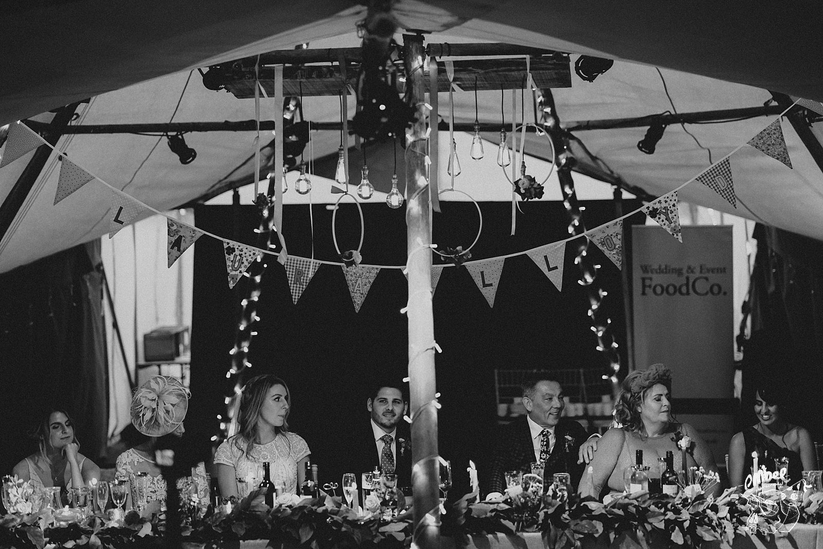 photograph of the top table during speeches