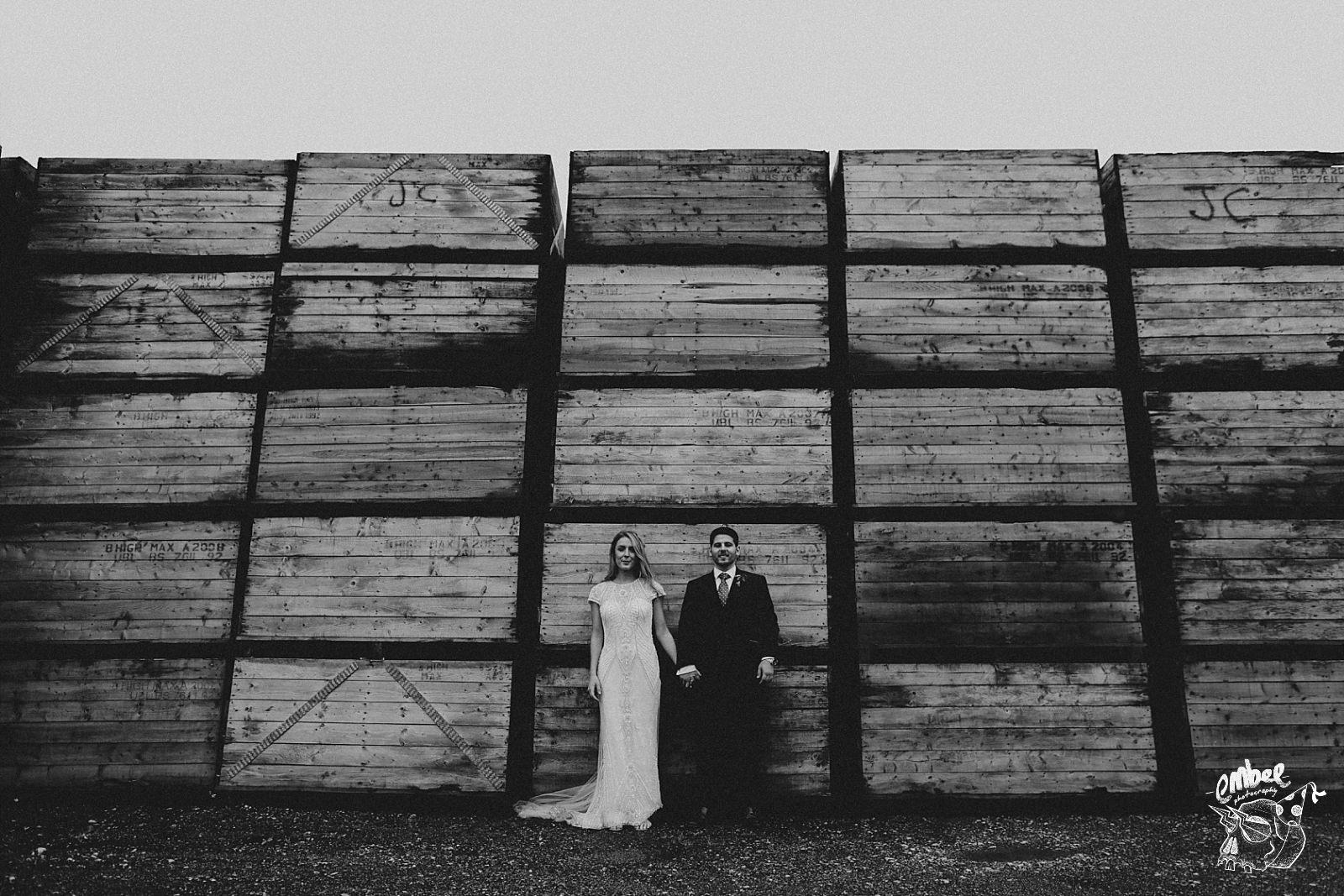 alternative wedding photography portraits of bride and groom