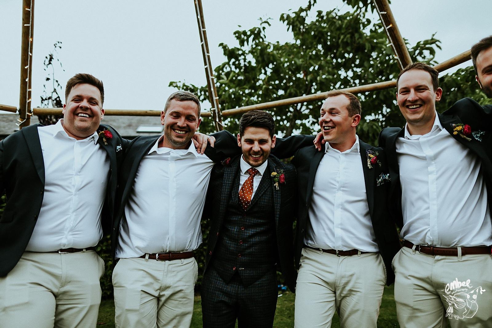 grooms wedding party