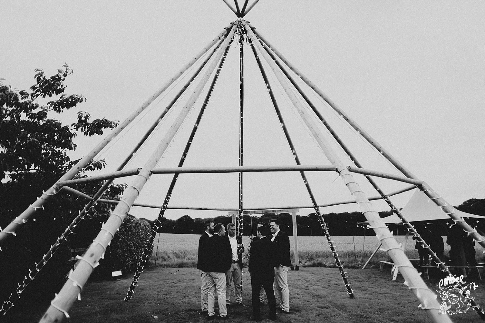 skeleton tipi at wedding