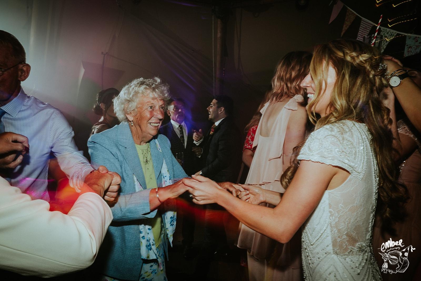 nan enjoying dancing on wedding day