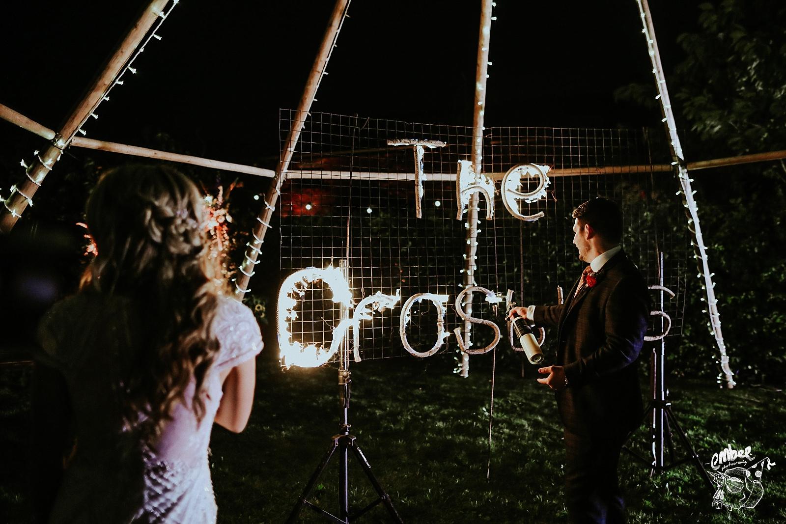 groom lights signwriting pyrotechnics