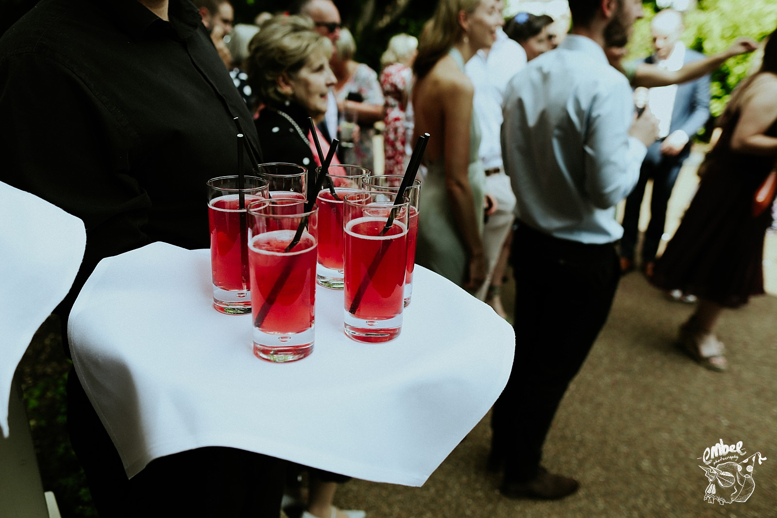 reception drinks on tray