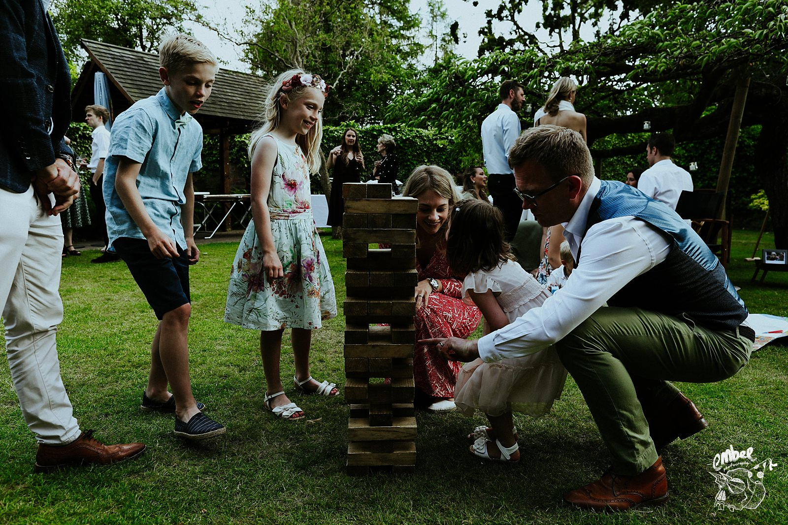 people play with giant jenga